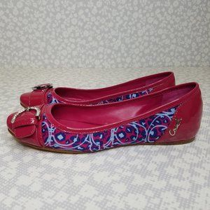 COACH Remmi Patent Leather Leopard Flats
